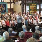 Teal and Joyce with the Common Thread Chorus